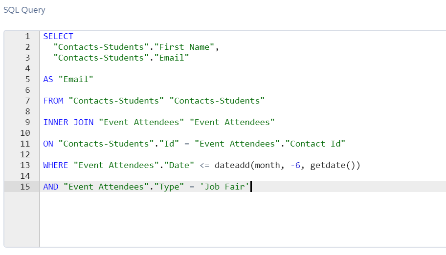 SQL query - Segmentation strategy for a career learner using Salesforce Marketing Cloud